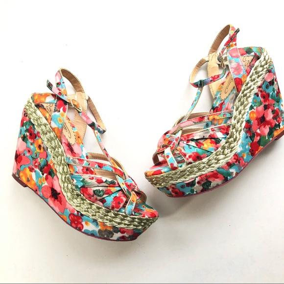 55e458da5 Poetic License Shoes | Floral Platform Strappy Sandals | Poshmark